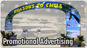 Trade show and exhibit promotional advertising