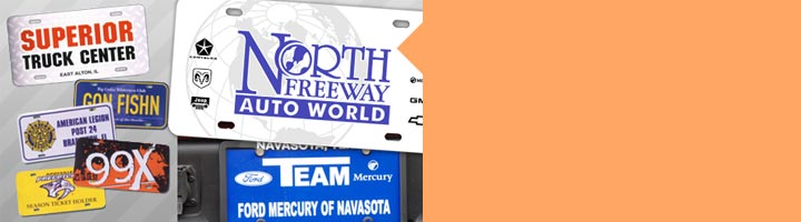 Dealer Inserts  License plate inserts make excellent advertising and promotional tools. Single-color, multicolor or full color imprinted inserts available.  See dealer inserts »